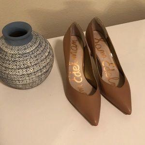 Sam Edelman Camel Leather Heels